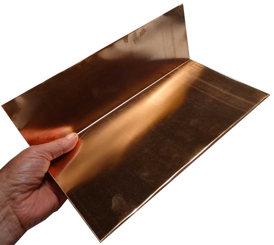 12 Quot Copper Step Flashing Gt Step Misc Flashing Gt Slate
