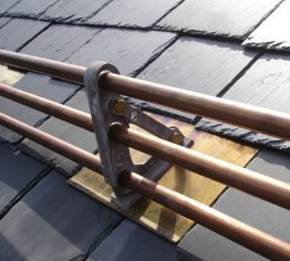 We sell snow rails for roofs at the Snow Guard Warehouse.