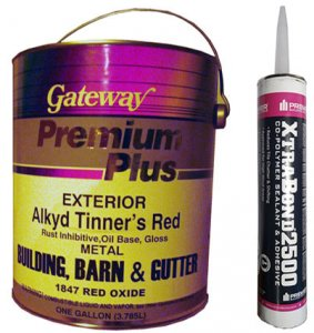ROOF CAULK AND PAINT