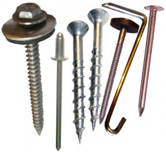 We stock copper and Stainless Steel Rivets, Nails, Screws, and Slate Hooks for roofing, flashing, and any type of construction work.