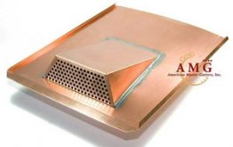 "German-Made Copper Air Vent for roofs ""Rocky Mountain"""