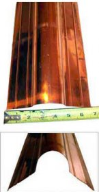 Copper Ridge Rolls for Roofs - 16 ounce, Berger #RR0CP2