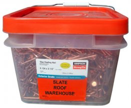 25 Lbs. Copper Smooth Shank Roofing Nails