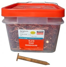 25 Lbs. Copper Ring Shank Roofing Nails