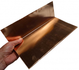 Step Flashings - 16 ounce copper - 7 inches long - 100 pieces sold at the Slate Roof Warehouse.