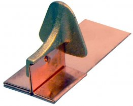 Mullane 100CPSM bronze snow guard for soldering to flat metal roofs