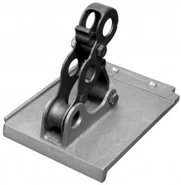 Fitrite #832 3-pipe bronze snow fence bracket for Designer Tile
