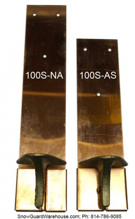 Side-by-side comparison photos of the Mullane 100S-NA and the Mullane 100S-AS.