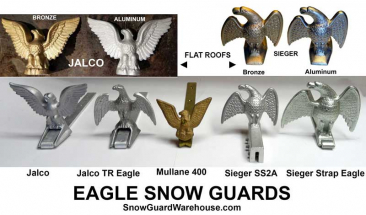 Eagle style standing seam snow guards.