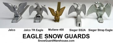 Eagle style snow guards for roofs.