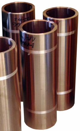 Sixteen ounce copper flashing rolls sold at the Slate Roof Warehouse.