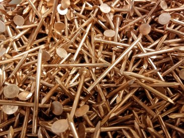 Copper Smooth Shank Roofing Nails 25 Lbs