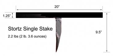 20 inch Stortz Model 85A Straight Slaters Stake