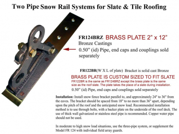 Mullane Fitrite 2 and 3 Pipe Snow Rails