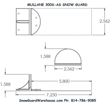 Mullane 300S-AS Snow Guards