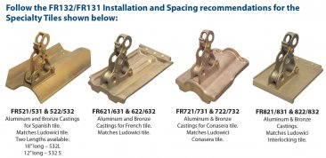 Fitrite 632 Bronze Bracket for French Tile