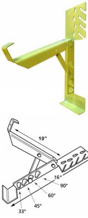 Case of 12 Acro Model 19038 Adjustable Roof Brackets