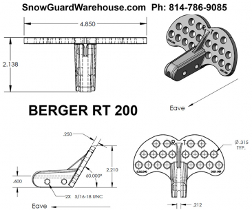 Berger RT 200 and RT 300 snow guards