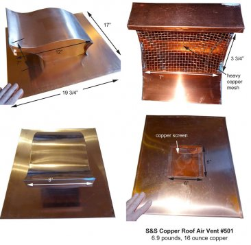 Salvo #501 Copper Roof Vent
