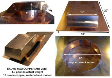 Salvo #502 Copper Roof Vent