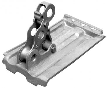 Fitrite #631S 3-pipe aluminum snow fence bracket for French Tile