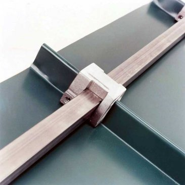 Berger S-Rail mill finish aluminum snow rail for standing seam roofs